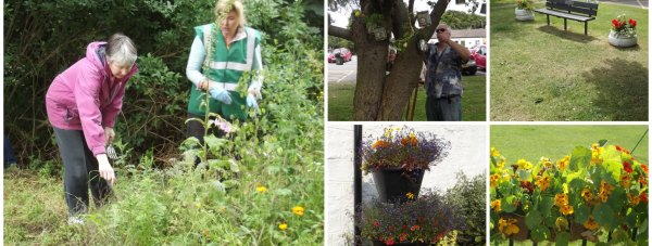 Villagers from Bracebridge Heath worked together to bring golden blooms to the area.