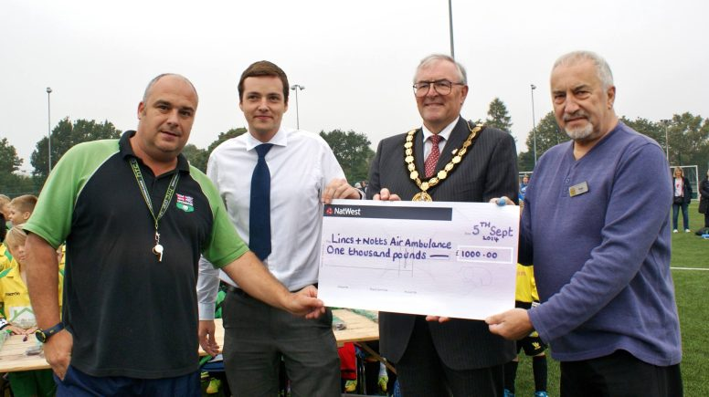£1000 was raised on the day for the Lincolnshire and Nottinghamshire Air Ambulance Appeal. Photo: Robert Woodhead