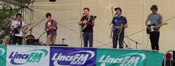 The band performing in the county.