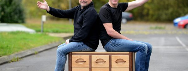 Chris Sharp has been designing and making furniture in Lincoln for 28 years. (L-R) Paul Kettleborough and Chris Sharp. Photo: Stuart Wilde