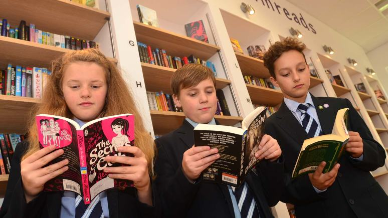 School students Nicole Davenport, Daniel Kennedy and Mabs Madanski. Photo: Steve Smailes for The Lincolnite