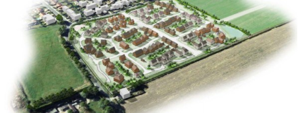 Artists impressions of the outline plans for 120 homes in Bassingham. Image: Gladman Developments