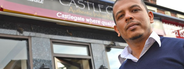 Owner of the Castlegate restaurant and delivery service in Lincoln Dewan Ghazi. Photo: Emily Norton