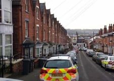 The area of the incident on Arboretum Avenue remains cordoned off.
