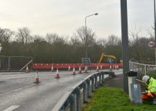 Five months of works are underway on Canwick Road in Lincoln. Photo: Steve Smailes for The Lincolnite