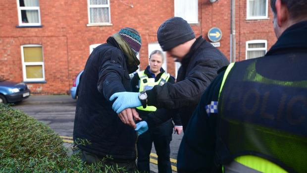 Two people were stop searched and serves with dispersal orders during the day. Photo: Steve Smailes for The Lincolnite