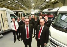 Alan Pickering and Dean Hyde, joint Managing Directors at Camper Van UK with staff. Photo: Steve Smailes for The Lincolnite