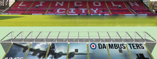 Lincoln City's plans to create a giant Dambusters mosaic to raise funds have fallen short
