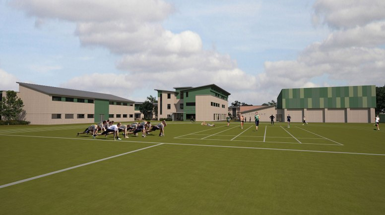The proposed Agricultural College Campus' sports pitch.