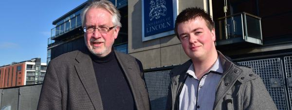 (L-R) Creators of the survey Professor Todd Hogue of the University of Lincoln and PHD student Craig Harper. Photo: Steve Smailes for The Lincolnite