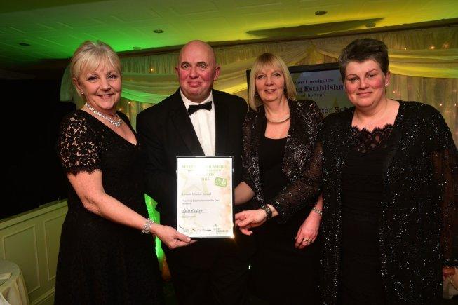 Lincoln Minster school, winners of Teaching Establishment of the Year
