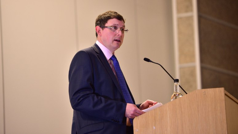 Opening Speaker, Andrew Taylor, Head of Leisure at Natwest Bank. Photos by Steve Smailes