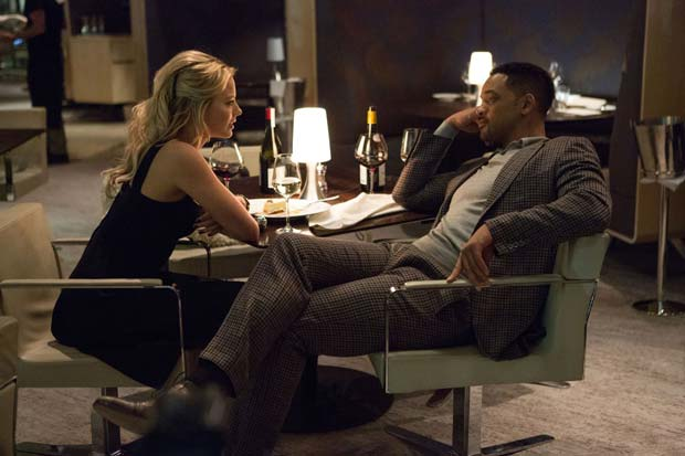 Will Smith and Margot Robbie in Focus (2015). Photo: Warner Bros. Entertainment Inc