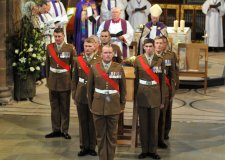 The eyes of the world were on eight Lincolnshire soldiers when they took part in the reinterment of His Late Majesty King Richard III at Leicester Cathedral.
