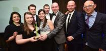 The winners of the Best Use of Multimedia award Epix Media. Photo: Steve Smailes for Lincolnshire Business