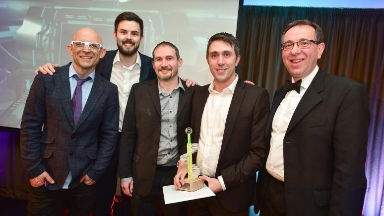 The winners of the Digital Business of the Year award Artsgraphica at the first Lincolnshire Digital Awards event. Photo: Steve Smailes for Lincolnshire Business