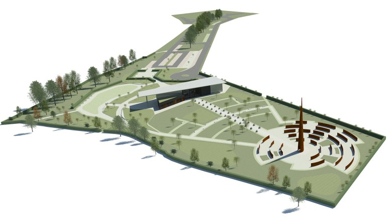 The International Bomber Command Centre is an ongoing project on Canwick Hill.