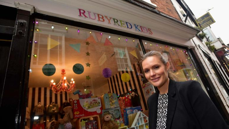 Rubyred Kids Boutique goes up for sale. Owner Lucie Poole. Photo: Steve Smailes