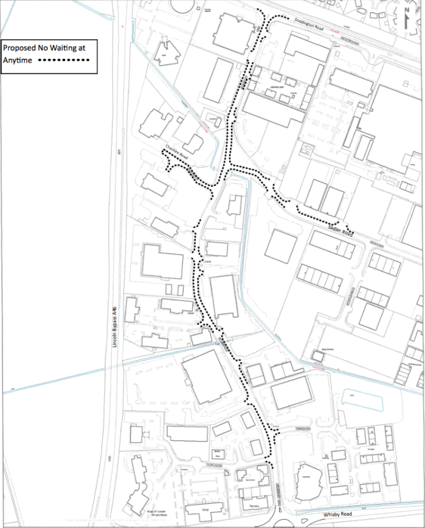 The proposed parking restrictions along Sadler Road and Kingsley Road.
