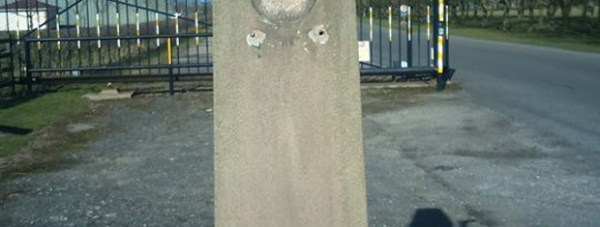The plaques were ripped off the memorial near Lincoln. Photo: Tony Goodeve