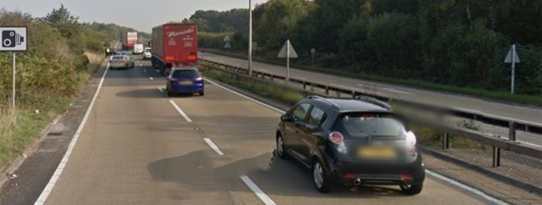The two cars involved stopped between the Carholme and Skellingthorpe roundabouts. Photo: Google street view