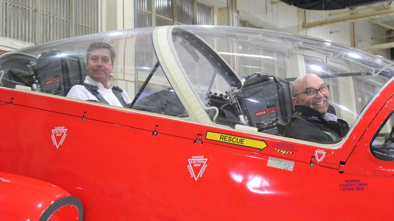MasterChef judges John Torode and Gregg Wallace visited the base in Scampton.