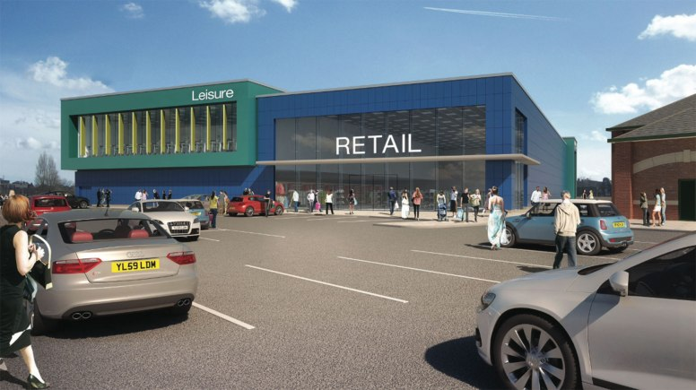 Outline plans for the new retail unit and gym next to Morrisons in Lincoln.