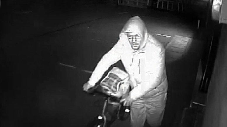 The thief was caught stealing cameras similar to those which caught him in the act.