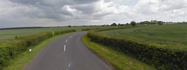 The B1190 at Tupholme near Bardney.Photo: Google street view