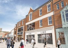 Proposed view for the Sincil Street units at the Cornhill Quarter