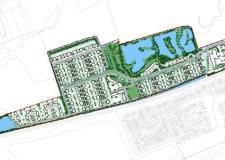 The proposed Leafbridge development off Station Road in North Hykeham.