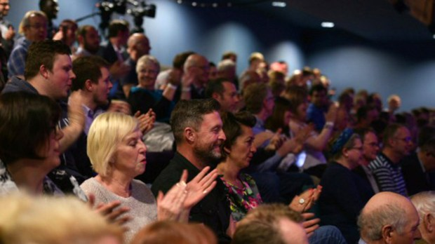 The 200-string audience at The Lincoln Debate. Photo: Steve Smailes for The Lincolnite