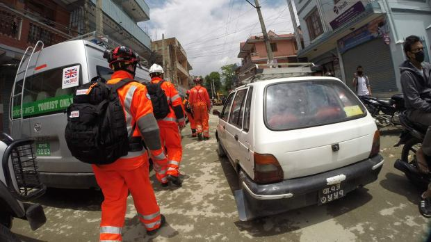 The team have now finished their work in Kathmandu and are beginning they search and rescue work in more rural suburbs.