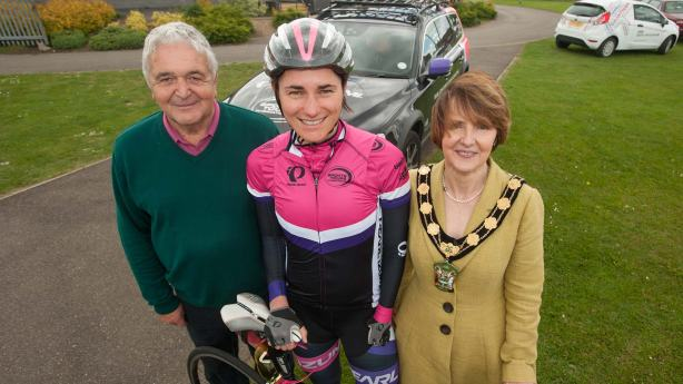 Left to right: Ian Emmerson OBE (event organiser), Dame Sarah Storey, Angela Lawrence (Chair of West Lindsey District Council)