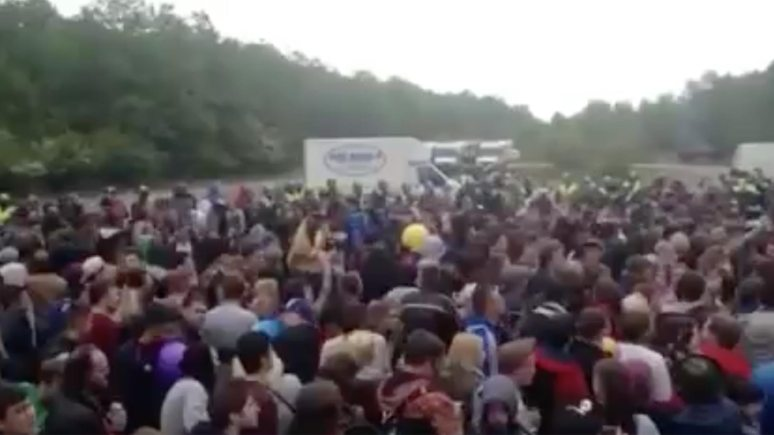 The illegal rave at Twyford Woods in 2015