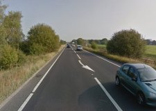 The motorcyclist came off the road on the A46 Lincoln bypass. Photo: Google Street View