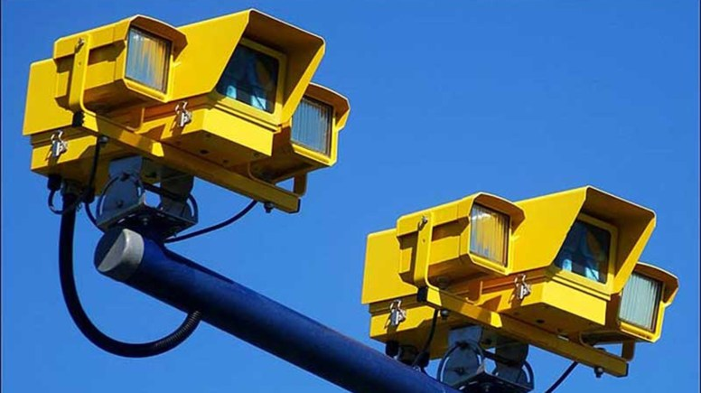 An example of average speed check cameras. Photo: Road Law