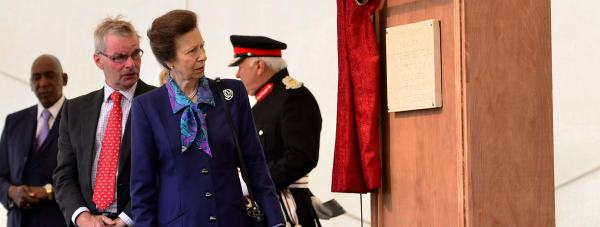 HRH Princess Anne unveiled a commemorative plaque, marking the reopening of the castle after its £22 million regeneration. Photo: Steve Smailes for The Lincolnite