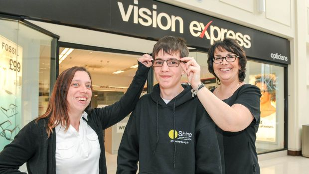 L-R: Kirsten Lee, Mathew Lee and Vision Express  Lincoln Store Manager Donna Green