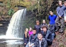 Branston Community Academy students preparing for the trip to Romania in the Brecon Beacons