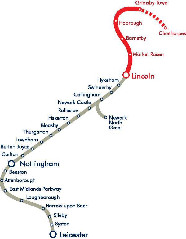 Services are closed between Lincoln and Grimsby