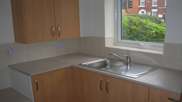 The newly refitted kitchen unit