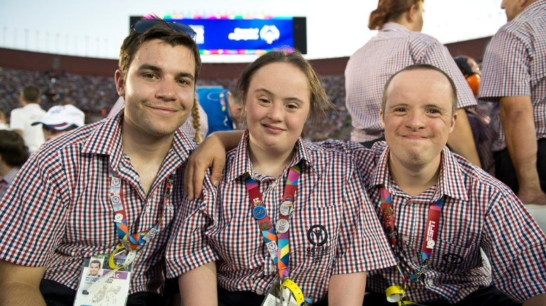 Lincoln College student Andrew McLaughlin (Right) is representing Great Britain at the Special Olympic World Games in LA.