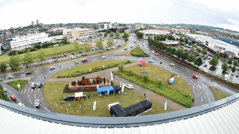 A creative expo help on Lincoln's Tritton Road Roundabout made an impression