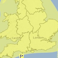 The warning is valid from Friday evening through until Saturday lunchtime.