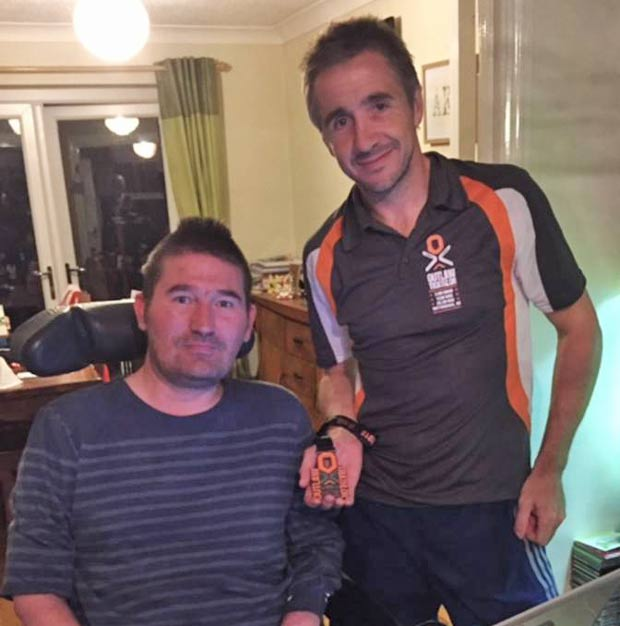 Ross (R) was inspired by his friend Adie (L), who was suddenly struck with MND.