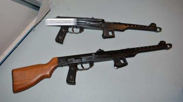 Unauthorised firearms discovered in possession of Mark Randall. Photo: Lincolnshire Police