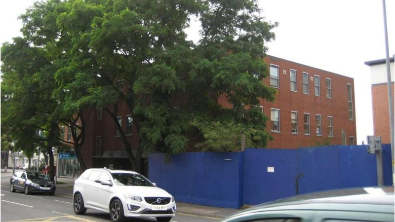 The site of the proposed development on Newland.