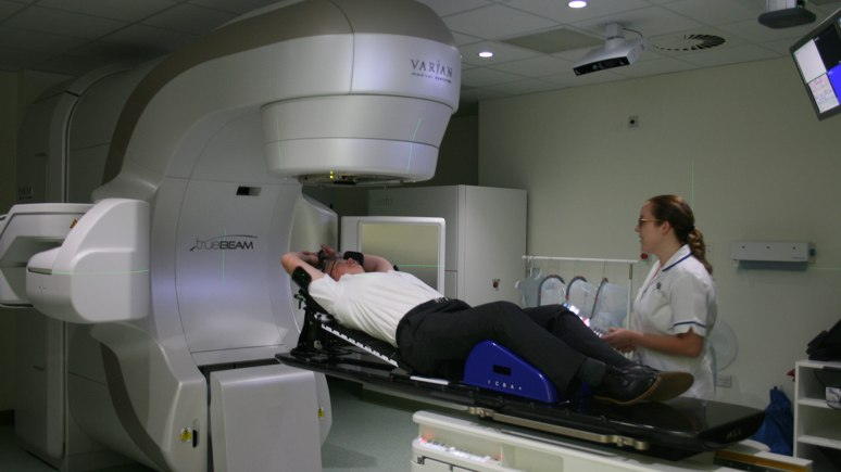 The new linear accelerator at Lincoln County Hospital