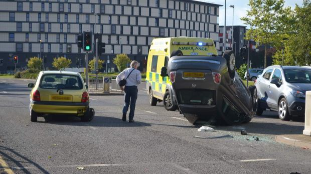 The crash took place on Ropewalk in the city centre